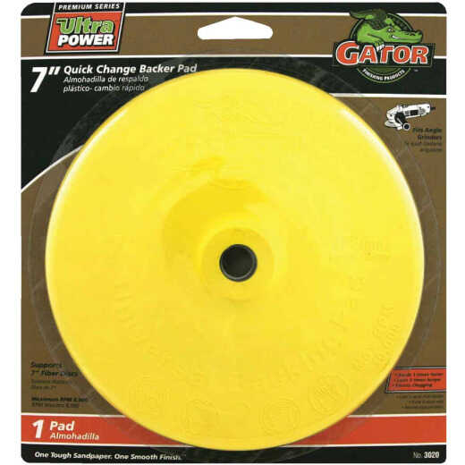 Gator Quick Change 7 In. Angle Grinder Backing Pad
